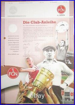 1. FC Nürnberg FCN Club-Anleihe 100 Morlock Mintal DFB-Pokal Stuhlfauth