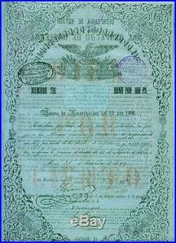 10X 10% Pesos 100- REPUBLICA MEXICANA 1859
