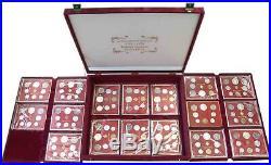 17 KMS Vatikan 1963 bis 1978 Kursmünzensätze im Folder inklusive Kassette