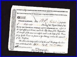 1834 BOSTON and PROVIDENCE RAIROAD & TRANSPORTATION 1834