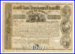 1845 Miami Extension Canal Stock Certificate