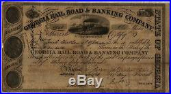 1848 Georgia Railroad & Banking Company Stock Certificate