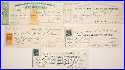 1860's Virginia City, Nevada Mining Check Collection