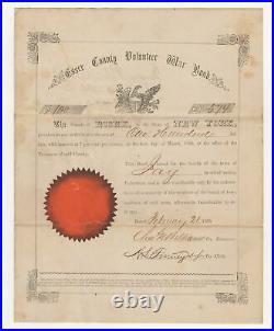 1865 Essex County Volunteer War Bond NY CIVIL WAR