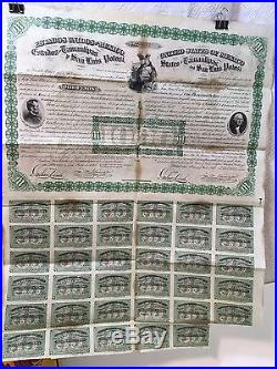 1865 Two Head Presidents Bond