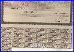 1866 Flint & Pere Marquette Railway bond