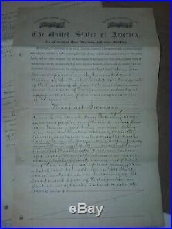 1873 California Gold Mine Claim Ulysses S. Grant El Dorado Co. Montana Territory