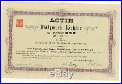 1882 Aktie Actie Walzwerk Wetzlar zu Bahnhof Wetzlar 1000 Mark Nr. 674