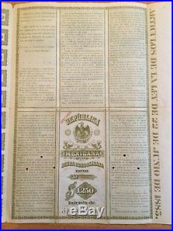 1885 Black Diamond / Christopher Columbus Republica Mexicana £250 Specimen