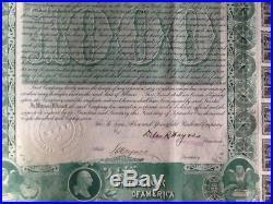 1888 St. Louis, Alton and Springfield 5% gold bond