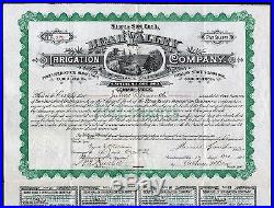 1891 Bear Valley Irrigation Company of Redlands, California