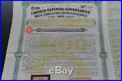 1905 Chinese bond Kuhlmann 145 Imperial Honan Railway 100 Pounds