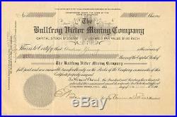 1906 Bullfrog Victor Mining Colorado stock certificate