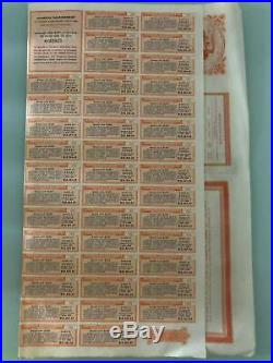 1908 China Chinese Tientsin Pukow Railway Loan Bond (GBP100)