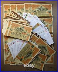 1913 China Government Chinese Reorganisation 5% Gold Loan Bonds £20 Uncanceled