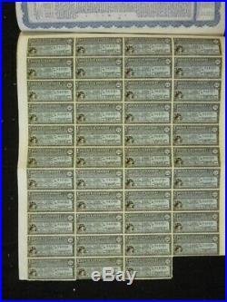 1913 Chinese Government 5% Reorganisation Gold Loan £100 Bond China 43 Coupon UK