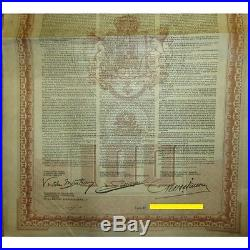 1922 Kingdom of Roumania £100 with 4% Consolidation Loan Gold bond