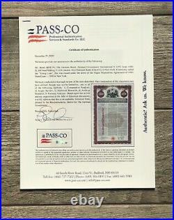 1930 German Government Bond UNCANCELED With PASSCO Authentication and Coupons
