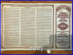 1930 German Government International 5 1/2% Loan $1000 Gold Bond