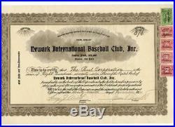 1931 Newark Bears Stock Certificate New York Yankees MLB Baseball James Sinnott