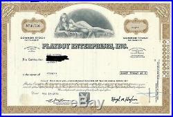 2 x Playboy Enterprises, Inc. (Aktie) 1976 u. 1996/Hugh Hefner -SEHR DEKORATIV
