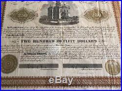 $250 Gold Bond 1882 ARIZONA TERRITORY, TOMBSTONE COURTHOUSE & JAIL 9 COUPONS