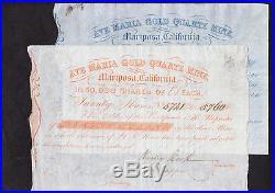 2x Ave Maria Gold Quartz Mining 1851 Mariposa County