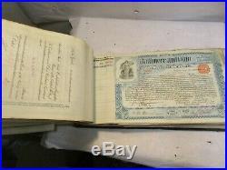 450 1899 to 1901 Baltimore & Ohio RR Common Stock Trust Certificate Ledger NR