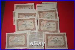 55 Aktien! Hamburgische Südsee AG im Hamburg 47x Aktie 1913 + 8x Aktie 1924 + 50