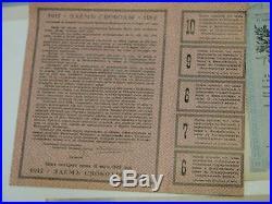 7 Consecutive 1917 Russia 5% Freedom Loan Debenture Bond 500 Ruble Ser II 5 coup