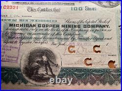 #74 Michigan Copper Mining Company 1915 Stock Certificate