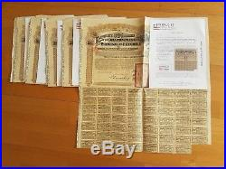 A Lot Of 5 Chinese Bonds 5,5% 1913 Petchilis