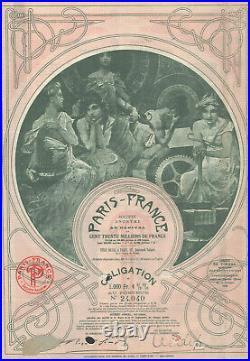 A. Mucha Paris- France SA Obligation 1930