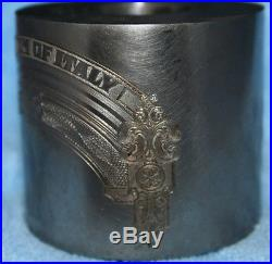 Abnc Original Transfer Hub#63399v 2 Vignettes Lady/oil Wells & Kingdom Of Italy