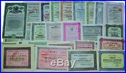 Aktien Anleihen Sammlung über 100 ver. Historische Wertpapiere mit Junkers uvm