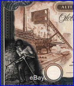 Altenessener Bergwerks AG Essen hist Aktie 1953 Hoesch Zeche Emil Emscher Radbod