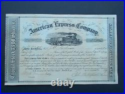 American Express Share Certificate 1859 William Fargo + J. Butterfield Signed