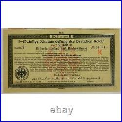 Anleihe des Deutfchen Reichs 1923 Berlin German Bonds 10x 100,000 Mark + coupons