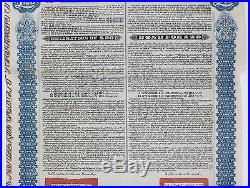 Antique 1913 CHINESE REPUBLIC, LUNG-TSING-U-HAI RAILWAY Bond Certificate, CHINA