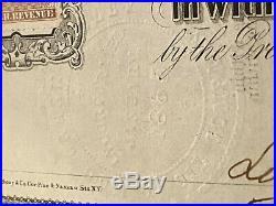 Antique Stock Certificate Oil Company Mud Valley Circa 1865