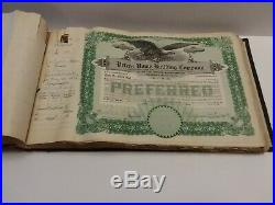 Antique stock certificate book of 238 Peters Home Building Company
