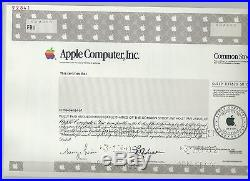 Apple Computer specimen stock certificate 2002