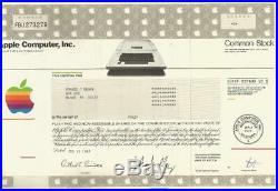 Apple computer stock certificate