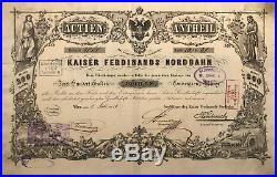 Äußerst RAR 1/5 Actie 1856 der ausschliessend priv. Kaiser-Ferdinands-Nordbahn