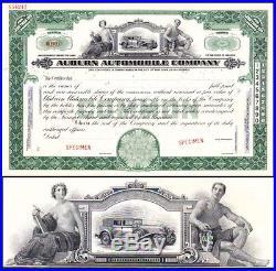 Auburn Automobile Company IN specimen Stock Certificate