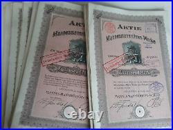 Aufgepasst! 203 Mannesmannröhren-Werke Wertpapiere ab 1910