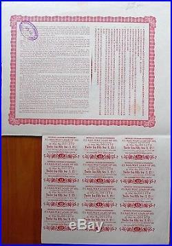B9062, China 5% Peking-Hankow Railway Loan, 500 Gold Yen Bond, 1911