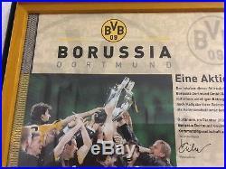 BVB Aktie im Rahmen, Deko, von Borussia Dortmund Nr. 16252, BVB