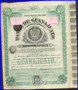 Banco De Guanajuato 1906 = Winston Churchill (mexico)