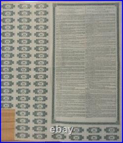 Bank Banco Londres Mexico 100 Pesos 1905 Coupons Uncancelled Bond Loan Stock